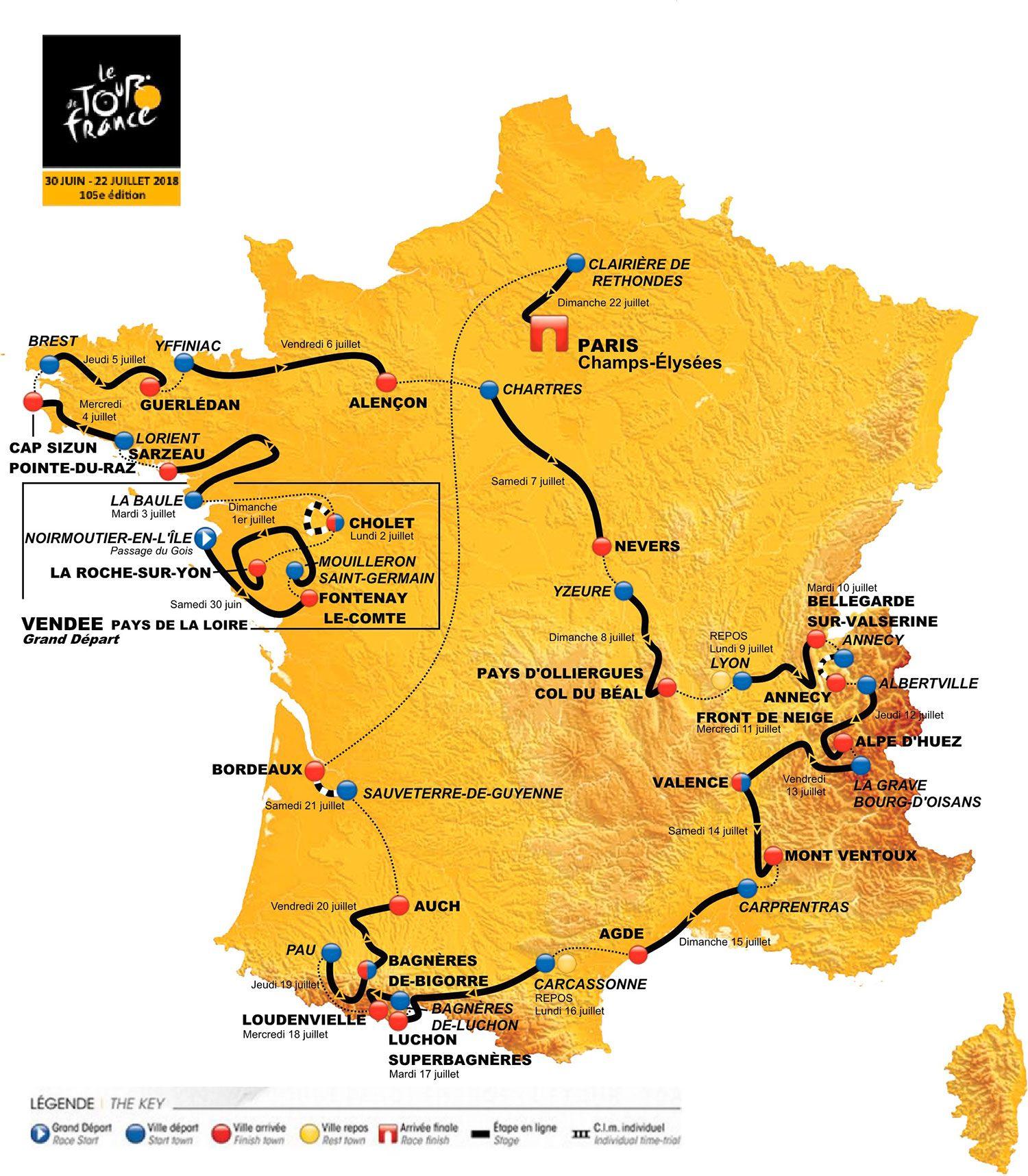 Le Tour de France 2018 passe par le Morbihan !